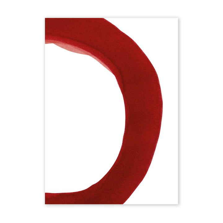 Enso Red II Poster, 50 x 70 cm von Paper Collective