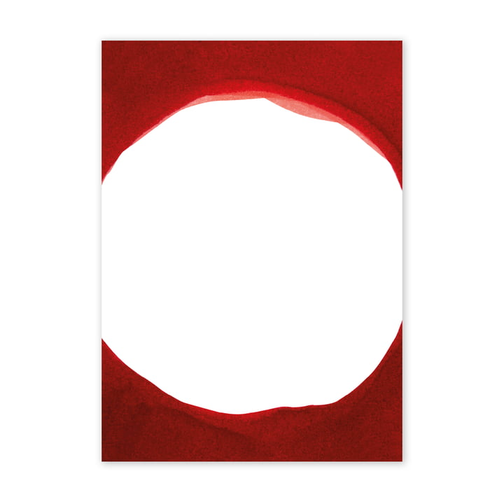 Enso Red III Poster, 50 x 70 cm von Paper Collective