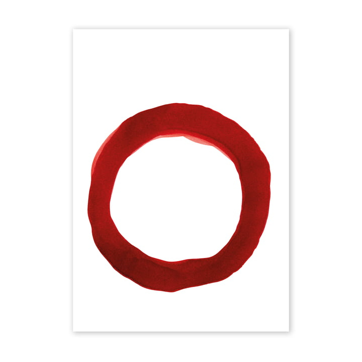 Enso Red IV Poster, 50 x 70 cm von Paper Collective