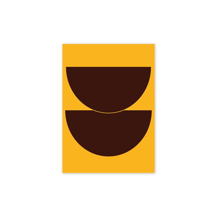 Half Circles II Poster, 30 x 40 cm, gelb von Paper Collective