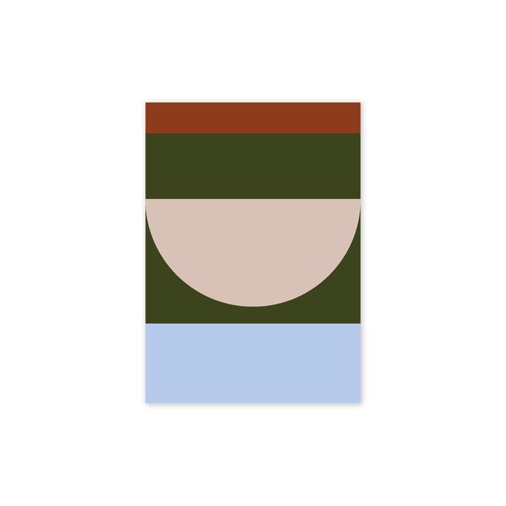 Half Circles IV Poster, 30 x 40 cm, multi von Paper Collective