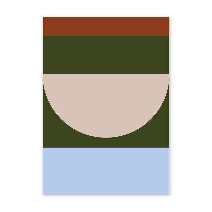 Half Circles IV Poster, 50 x 70 cm, multi von Paper Collective