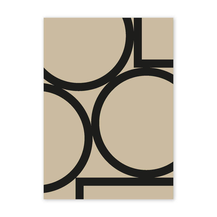 Simple Forms II Poster, 50 x 70 cm von Paper Collective