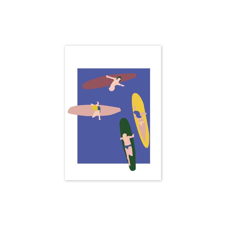 Surfers Poster, 30 x 40 cm von Paper Collective