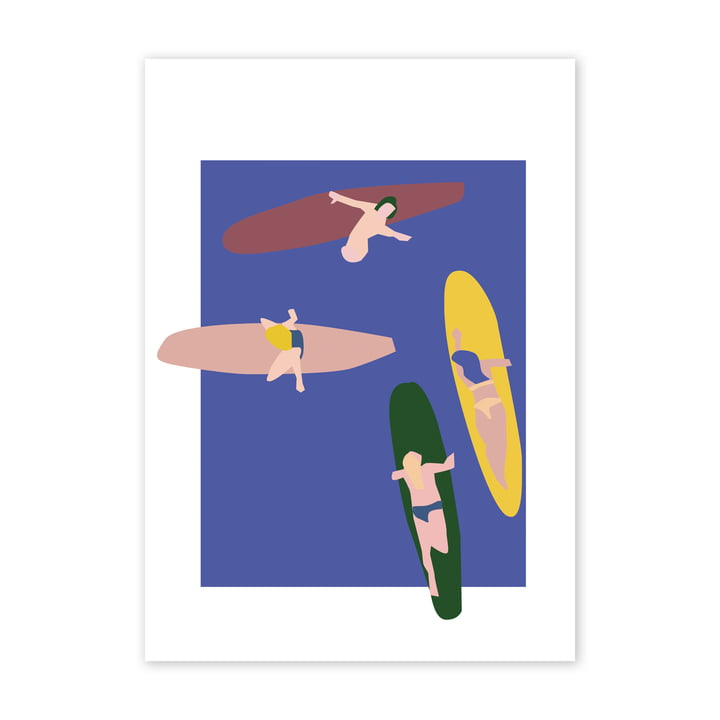 Surfers Poster, 50 x 70 cm von Paper Collective