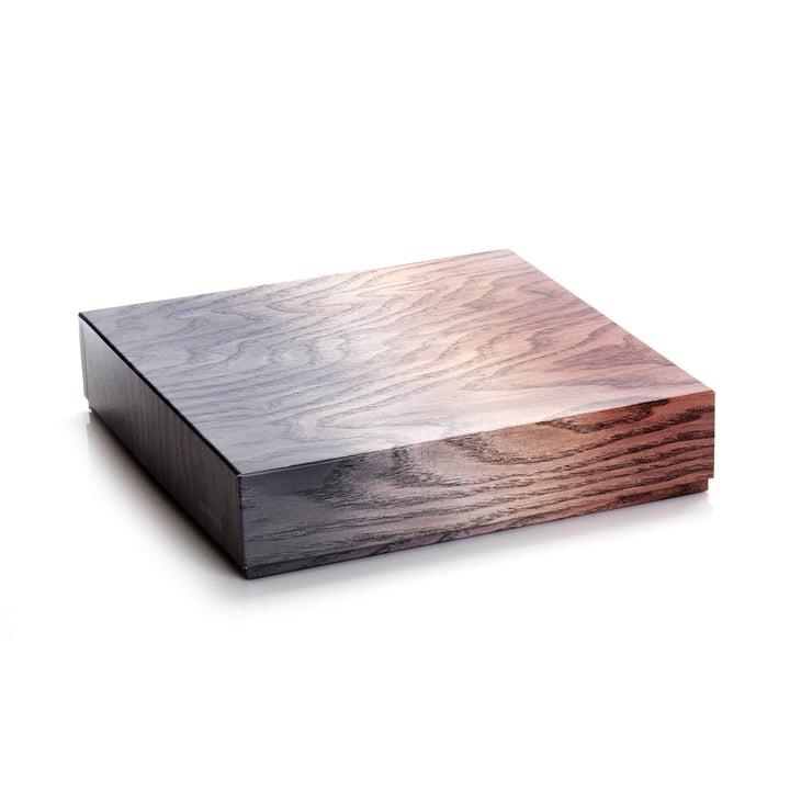 Aufbewahrungsbox 33 x 8 cm von applicata in braun / grau
