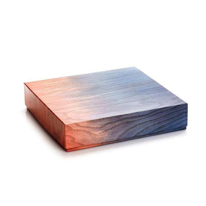 Aufbewahrungsbox 33 x 8 cm von applicata in blau / rot