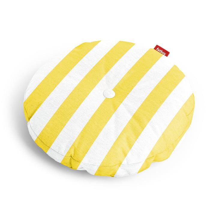 Circle Sitzauflage Ø 50 x 4 cm von Fatboy in gelb gestreift