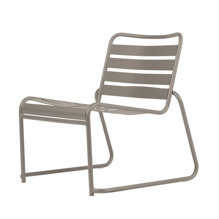 Lido Metall Lounge-Sessel von Fiam in taupe
