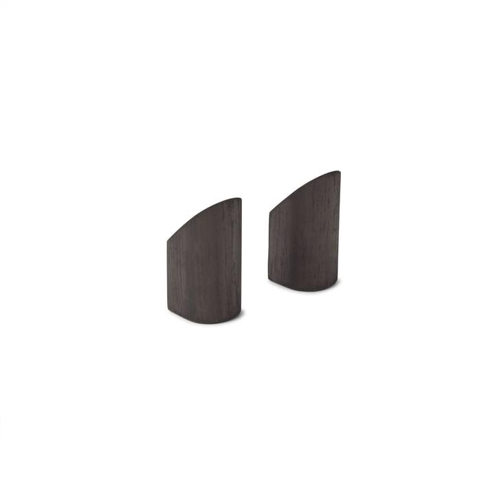 Kollage Wandhaken von Gejst in schwarz (2er-Set)