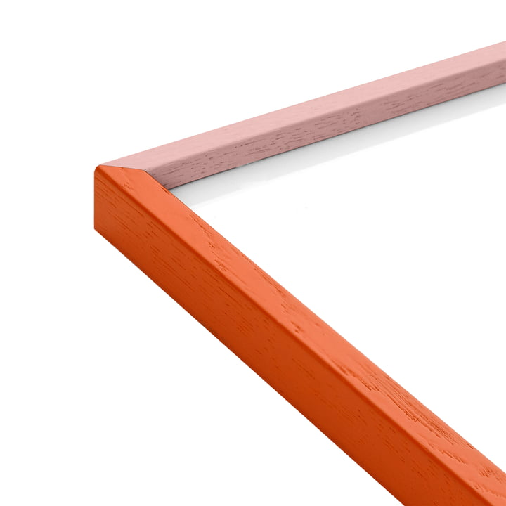 Bilderrahmen, Eiche orange / pink von Paper Collective