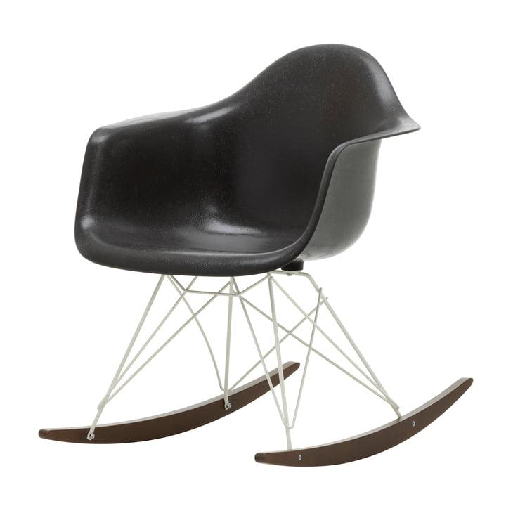 Eames Fiberglass Armchair RAR von Vitra in Ahorn dunkel / weiß / Eames elephant hide grey