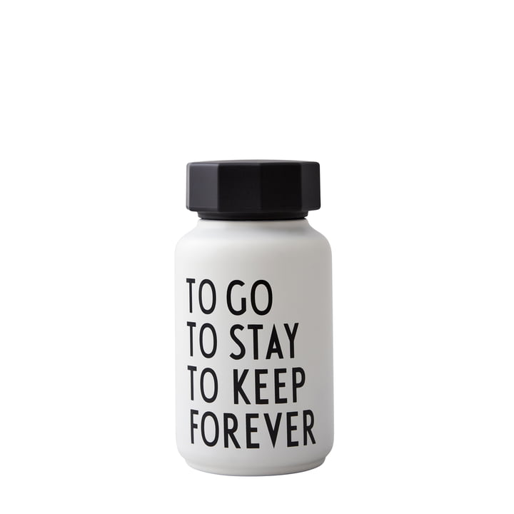 AJ Thermosflasche Hot & Cold 0,33 l, To Go To Stay To Keep Forever / weiß (Sonderedition) von Design Letters
