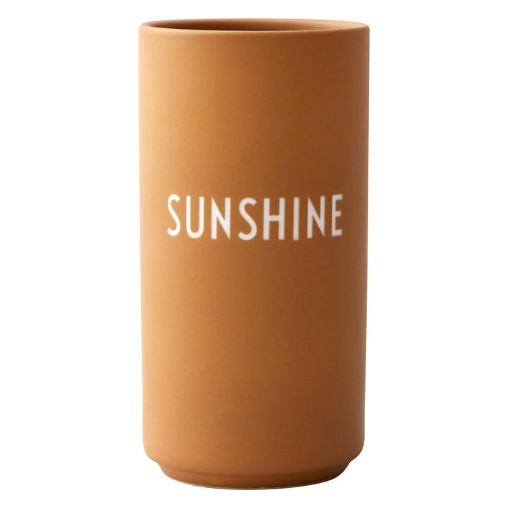 AJ Favourite Porzellan Vase, Sunshine / senf von Design Letters