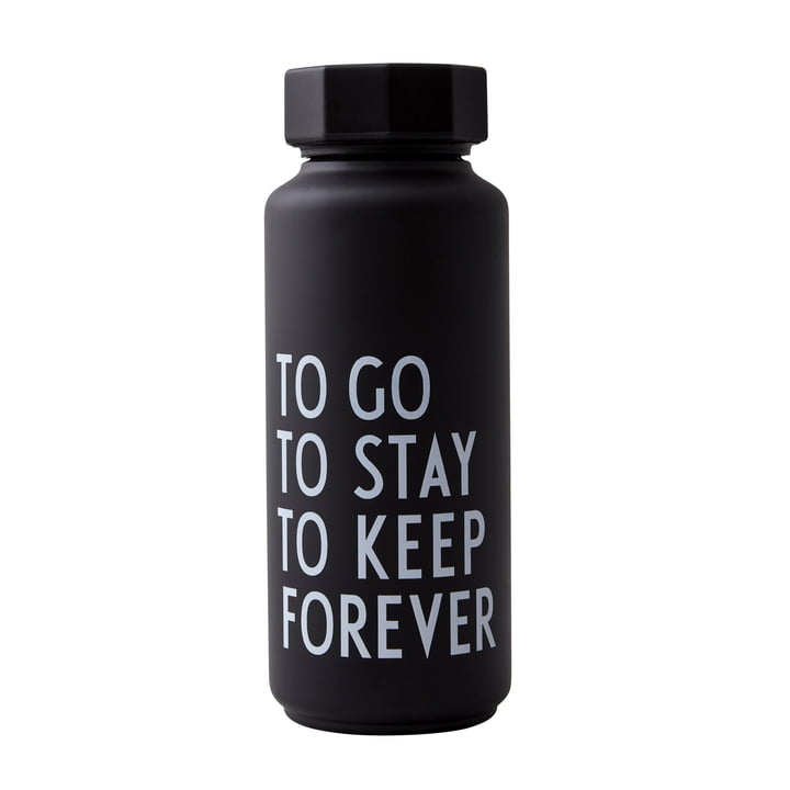AJ Thermosflasche Hot & Cold 0,5 l, To Go To Stay To Keep Forever / schwarz (Sonderedition) von Design Letters