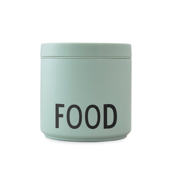 Thermo / Insulated Lunch Box Food large, schwarz / grün von Design Letters