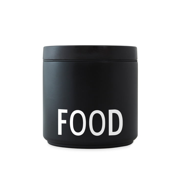 Thermo / Insulated Lunch Box Food large, schwarz / weiß von Design Letters