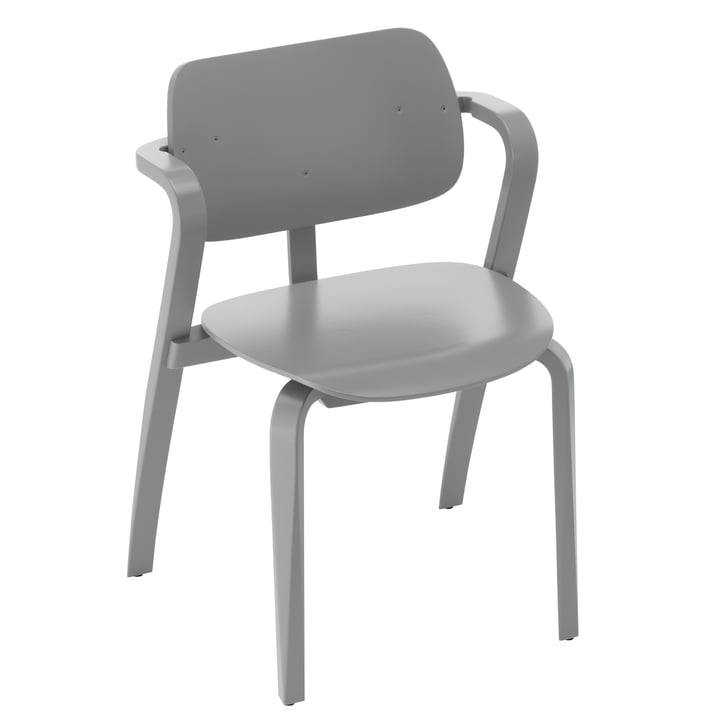 Aslak Chair, grau lackiert von Artek