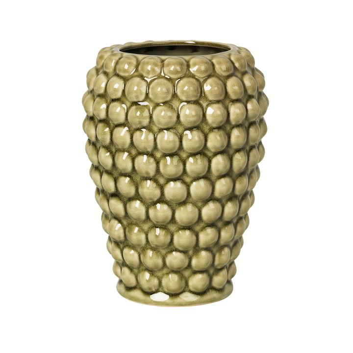Dotty Vase S, Ø 14 x H 20 cm, tea green von Broste Copenhagen