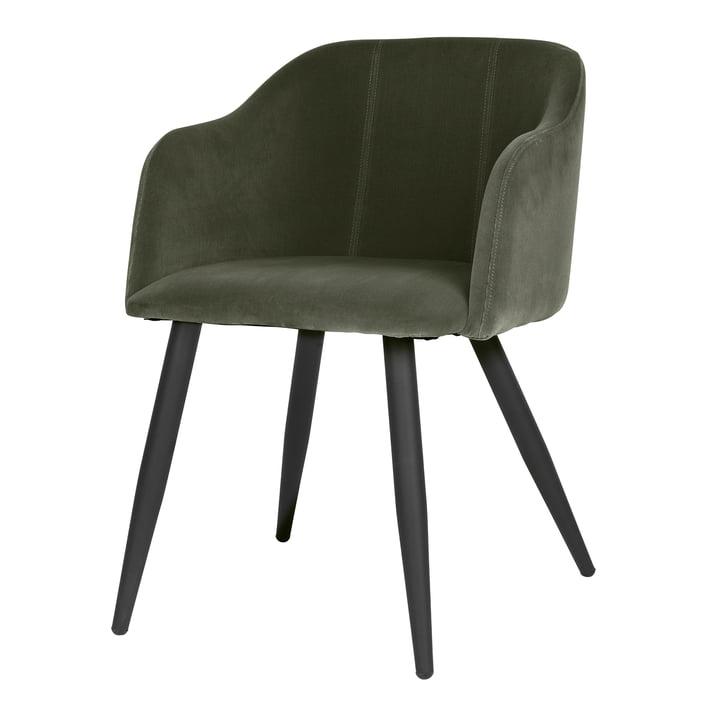 Pernilla Polster-Stuhl, matt schwarz / grape leaf von Broste Copenhagen