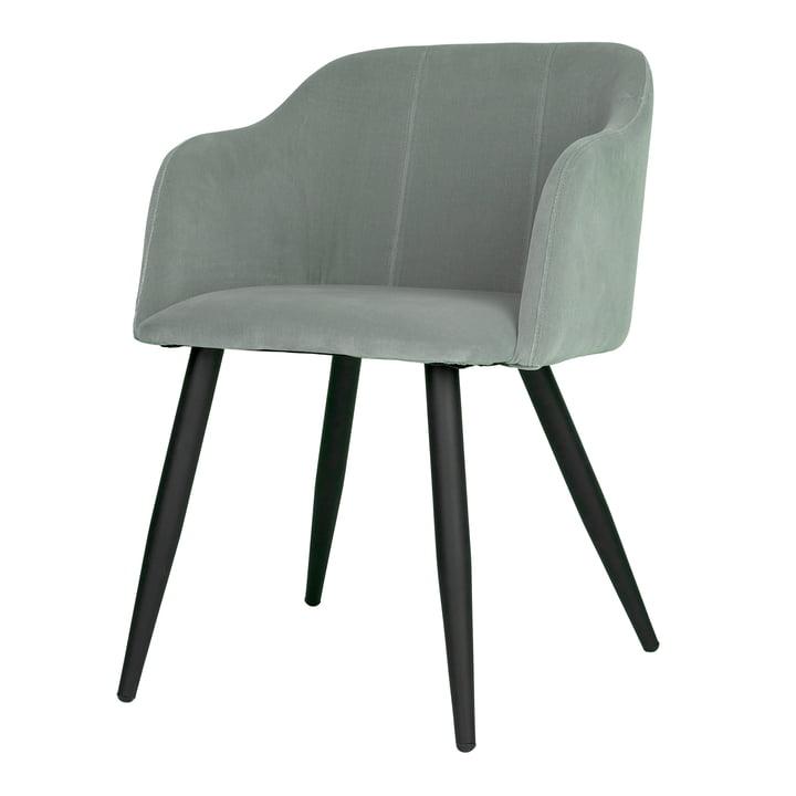 Pernilla Polster-Stuhl, matt schwarz / chinois green von Broste Copenhagen