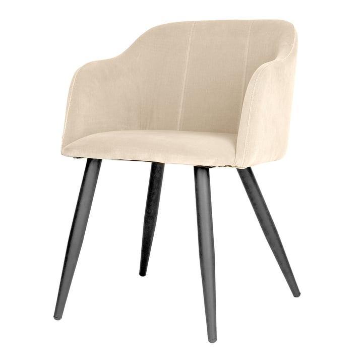Pernilla Polster-Stuhl, matt schwarz / rainy day von Broste Copenhagen