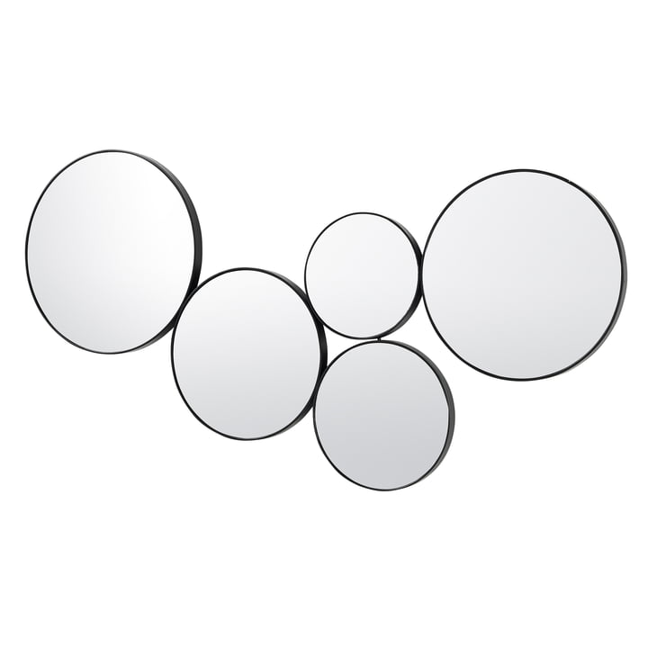 Kunst Spiegel, schwarz von Broste Copenhagen