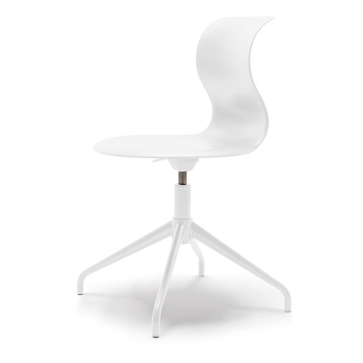 Pro Stuhl Vierstern-Aluminiumgestell von Flötotto in schneeweiß