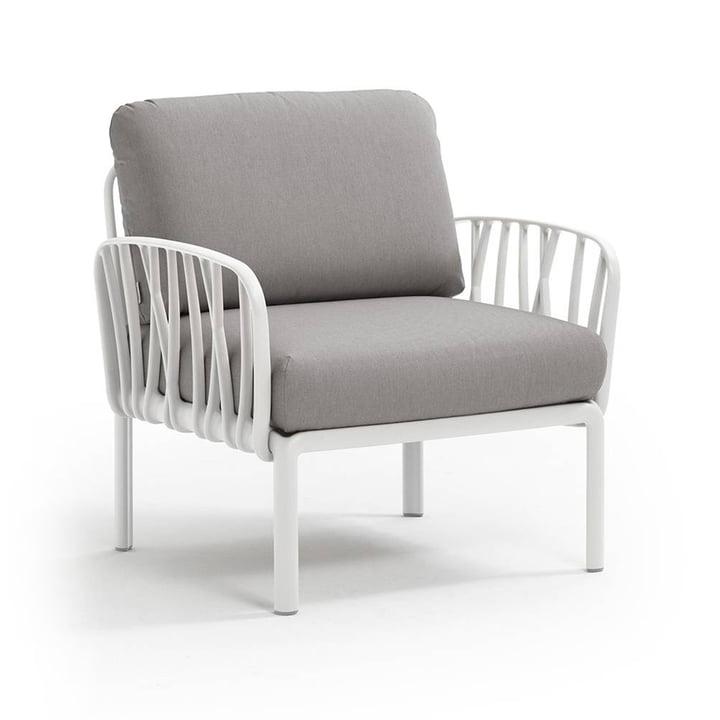 Nardi - Komodo Poltrona Sessel, weiß / grau