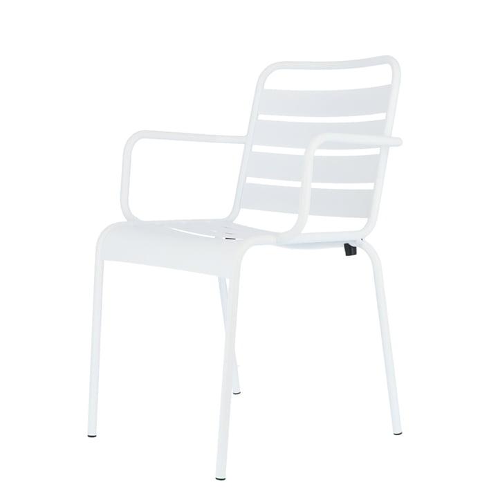 Mya Metallstuhl mit Armlehne von Fiam in weiß