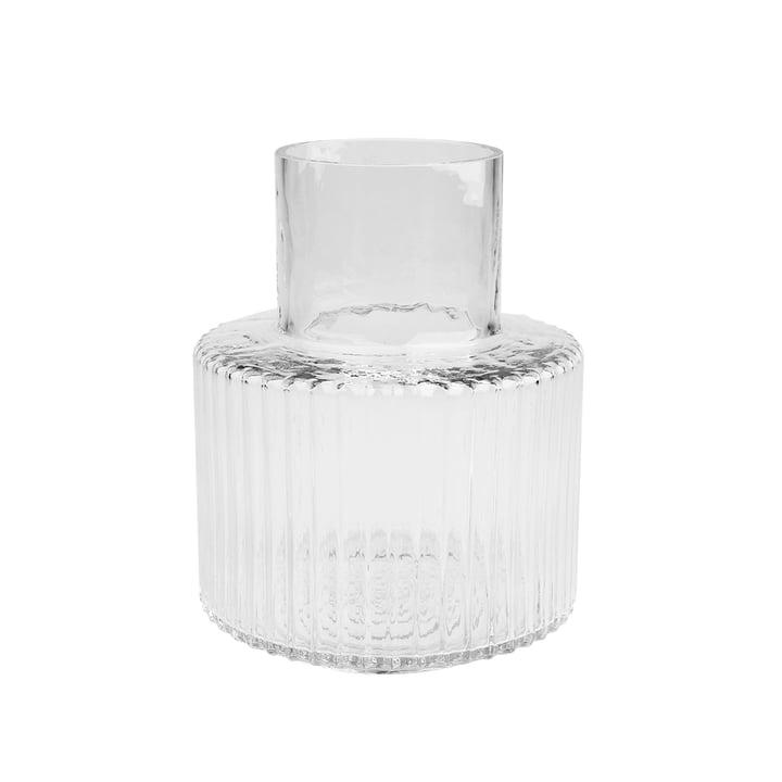 Ripple Vase Ø 17 x H 21 cm, transparent von Connox Collection