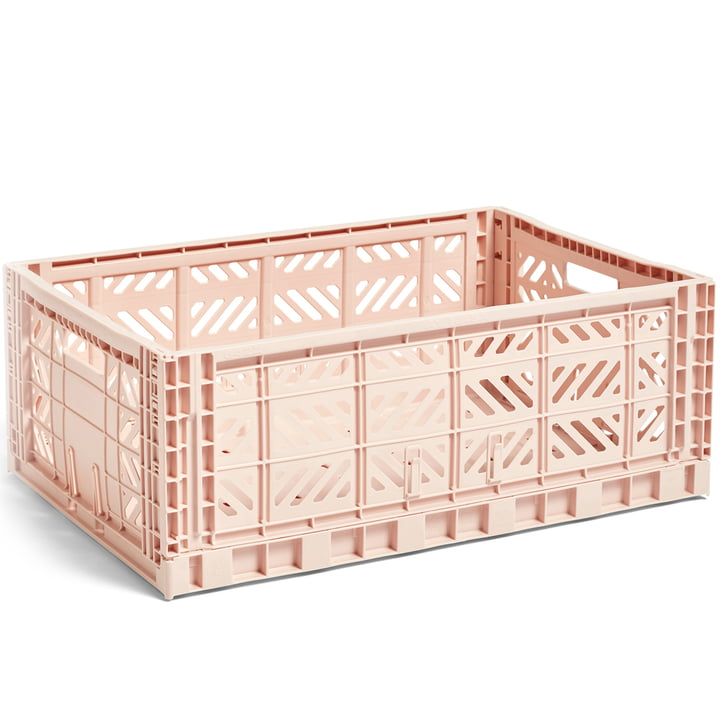 Colour Crate Korb L 60 x 40 cm von Hay in nude