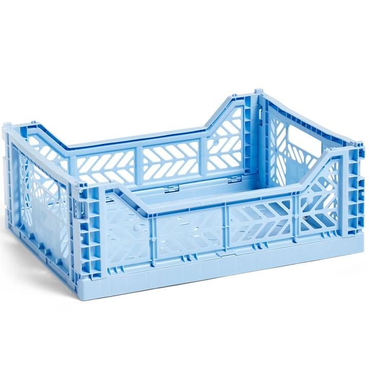 Colour Crate Korb M 40 x 30 cm von Hay in hellblau