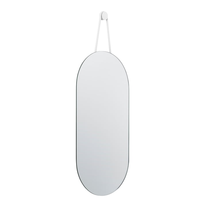 Zone Denmark - A-Serie Wandspiegel oval, 60 x 30 cm, weiß