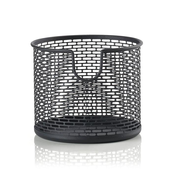Metall Aufbewahrungskorb Ø 12 x H 10 cm von Zone Denmark in schwarz