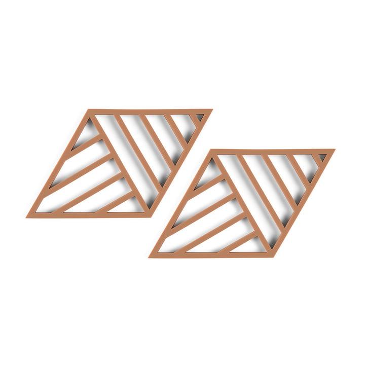 Rhombus Lines Untersetzer 20 x 11,5 cm  (2er-Set) von Zone Denmark in cayenne