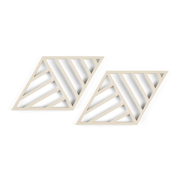 Rhombus Lines Untersetzer 20 x 11,5 cm  (2er-Set) von Zone Denmark in birch