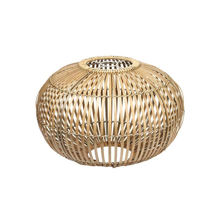 Broste Copenhagen - Zep Bambus-Lampenschirm, Ø 38 x H 26 cm, natur