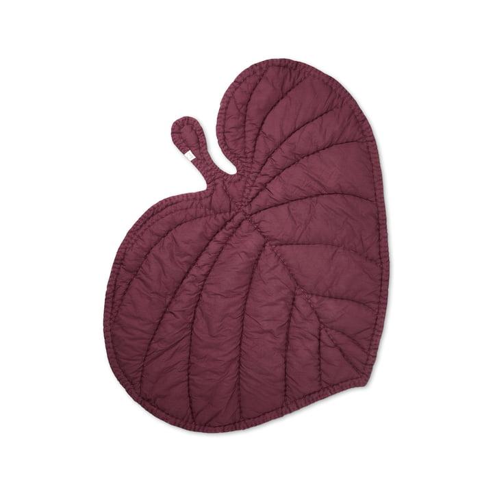 Leaf Spieldecke von Nofred in burgundrot