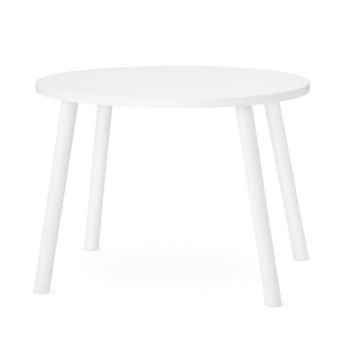 Mouse Kindertisch oval 64 x 46 cm von Nofred in weiß