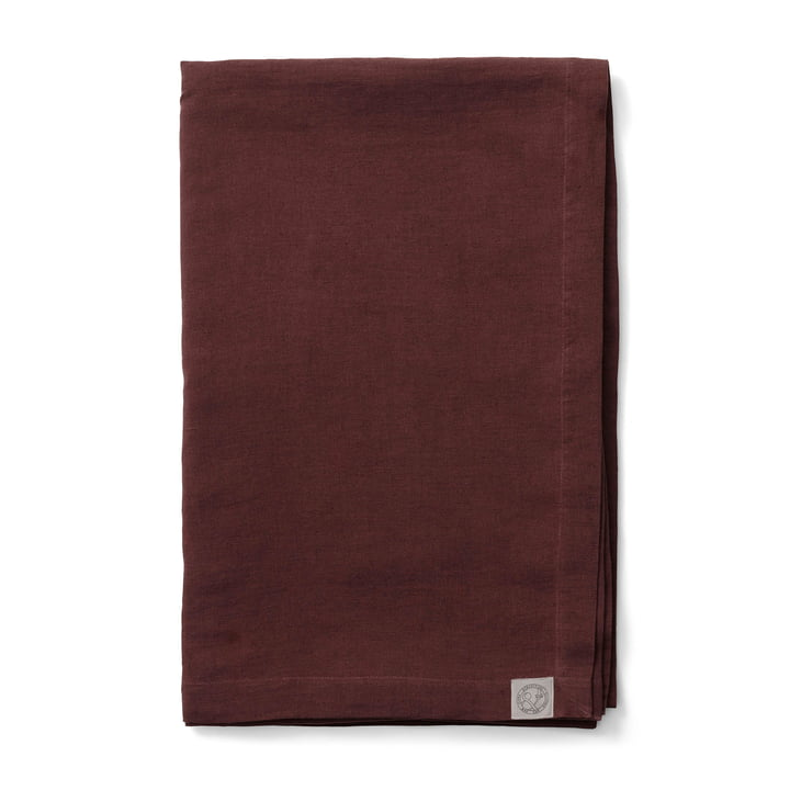 Collect SC31 Tagesdecke Leinen 240 x 260 cm von &tradition in burgundy
