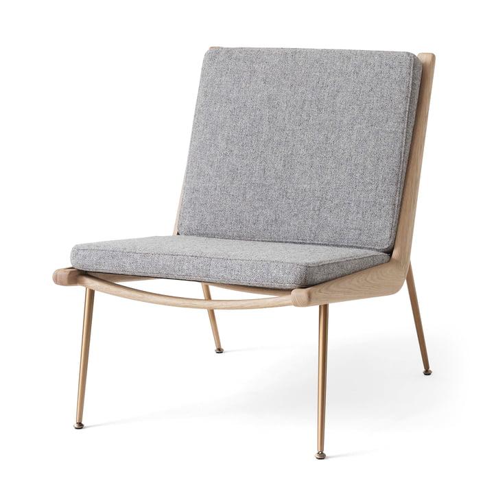 Boomerang HM1 Loungechair von &tradition in Eiche weiß geölt / Hallingdal 130