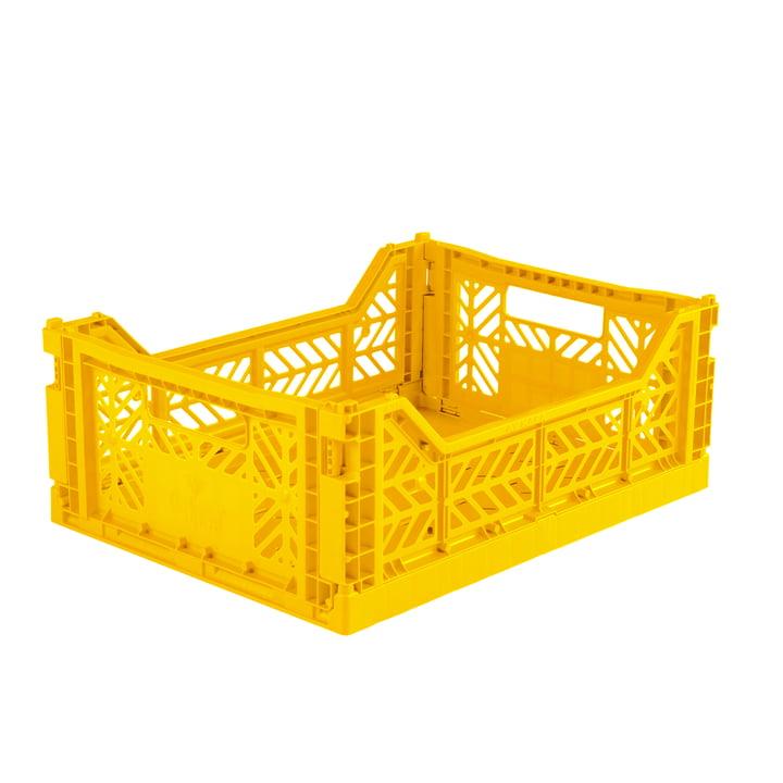 Faltkiste Midi 40 x 30 cm von Aykasa in yellow