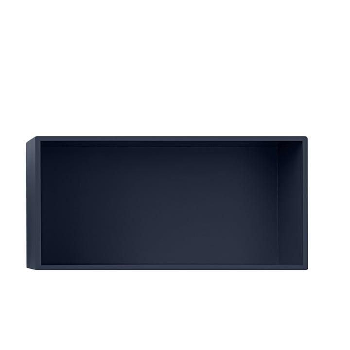 Mini Stacked Regalmodul 2.0, large / midnight blue von Muuto