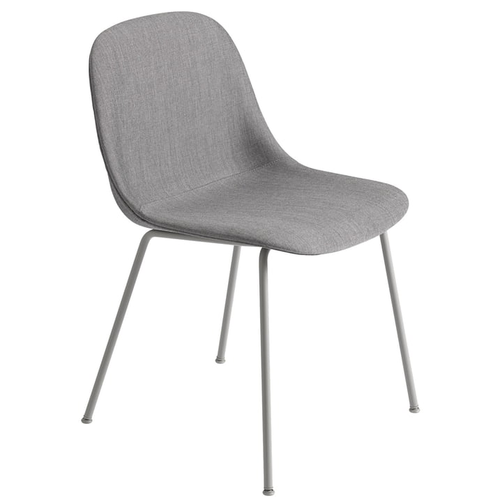 Fiber Side Chair Tube Base, grau / Remix 133 von Muuto