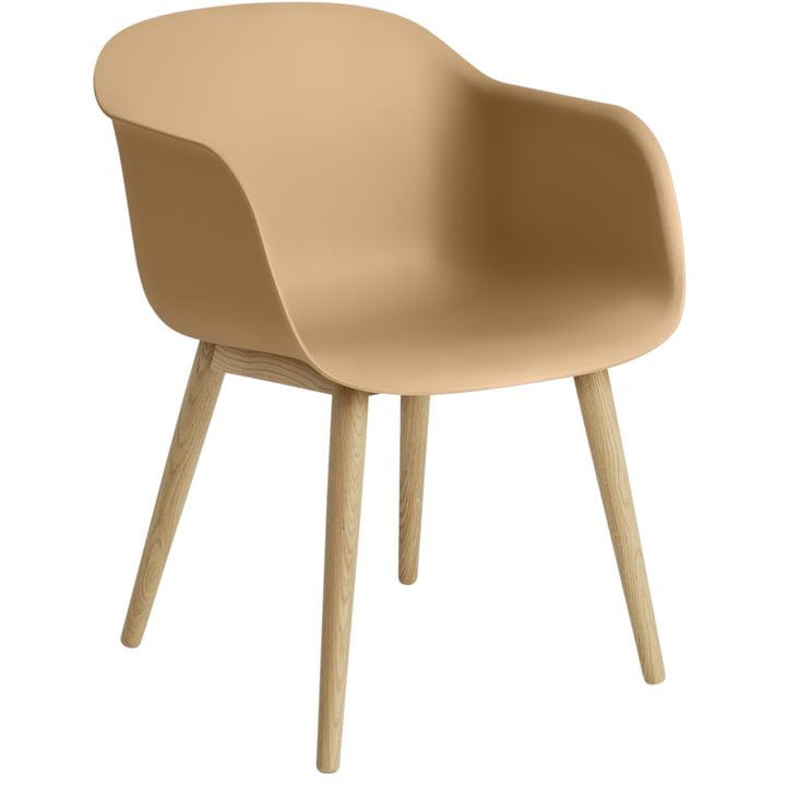 Fiber Chair Wood Base, Eiche / ocker von Muuto