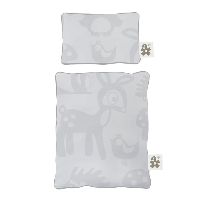 Bettwäsche für Puppenbett von Sebra in Forest grey