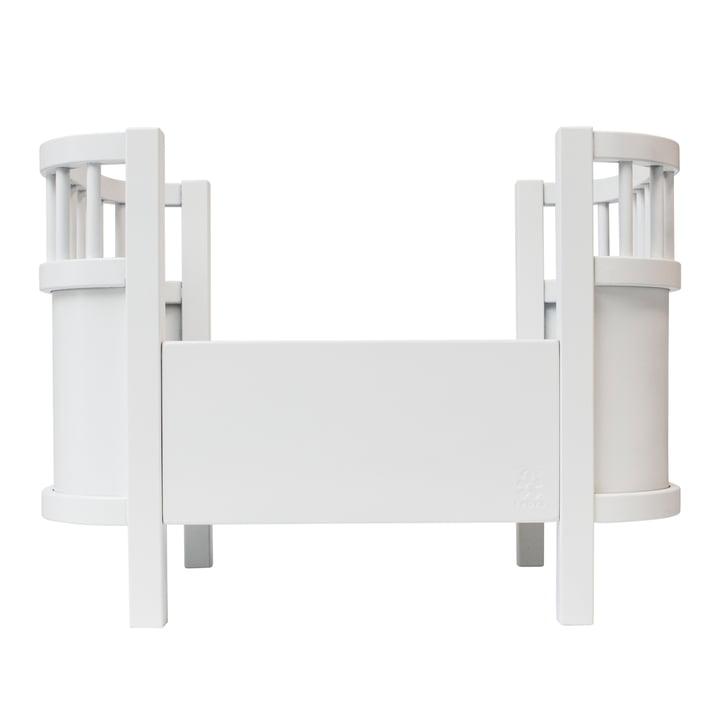 Puppenbett ohne Seitengitter von Sebra in weiß