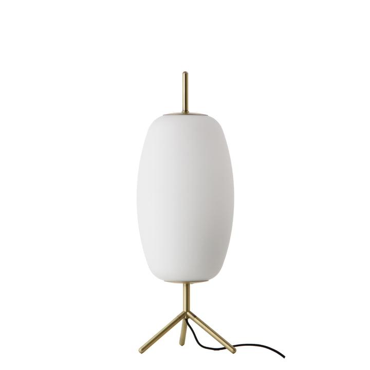 Silk Tischleuchte Ø 22 H 53 cm, Opalglas / Antikmessing von Frandsen