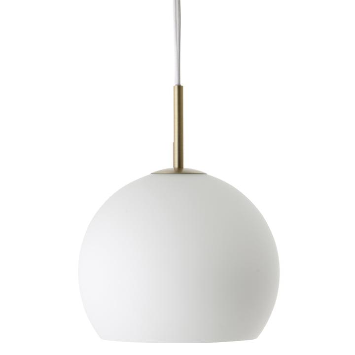 Ball Pendelleuchte Ø 25 cm, Opalglas / Antikmessing von Frandsen